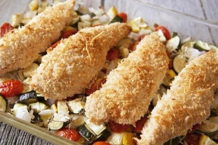 One-Dish Baked Chicken and Veggies