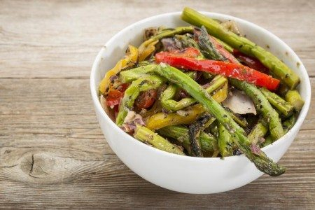 Roasted Asparagus & Peppers
