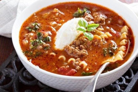 Slow Cooker Turkey Lasagna Soup