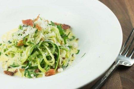 Zucchini Noodle Carbonara Recipe