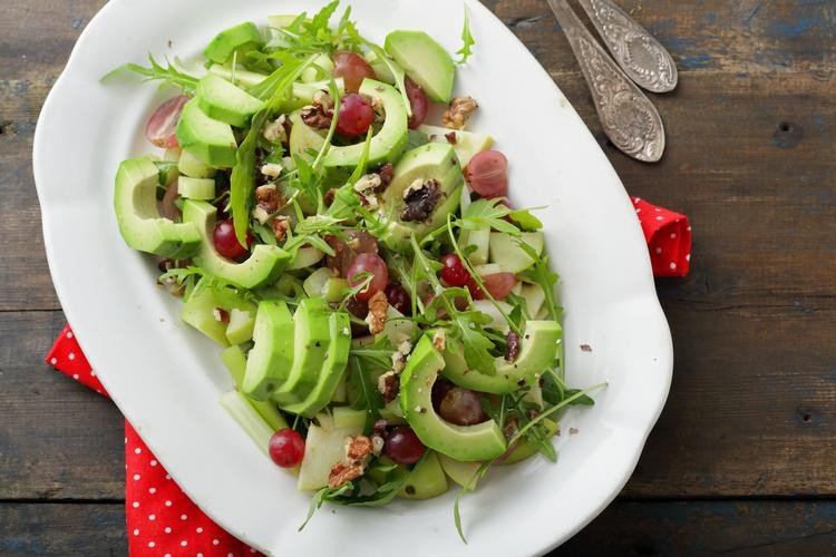Avocado & Grape Salad with Walnuts