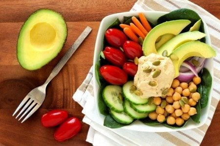 Avocado Hummus Bowl
