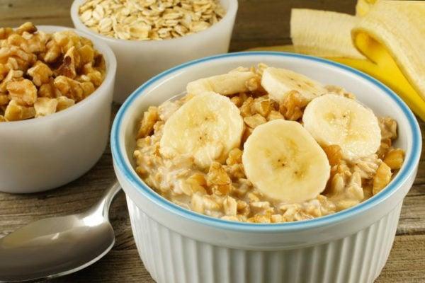 banana walnut overnight oats