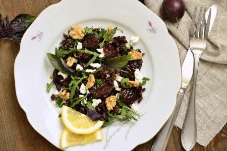 Black Rice & Date Salad with Balsamic Vinaigrette