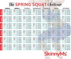 The Spring Squat Challenge Calendar
