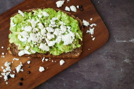 3-Ingredient Avocado and Feta Toast