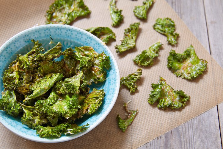 3-Ingredient Crisp Parmesan Kale Chips