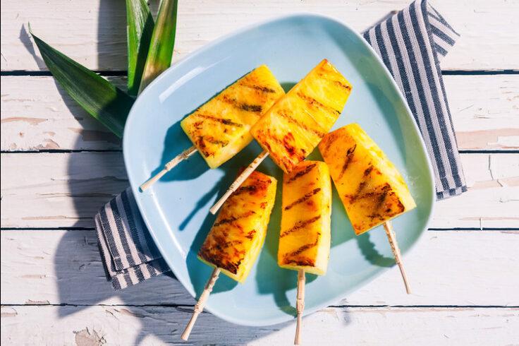 3-ingredient pineapple skewers