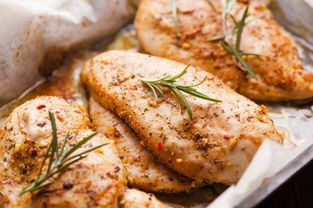 3-Ingredient Spicy Baked Chicken Breasts