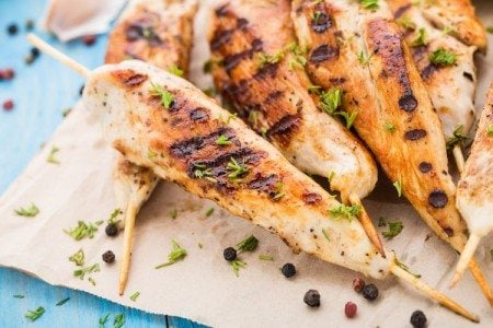 Carolina-Style BBQ Chicken Skewers