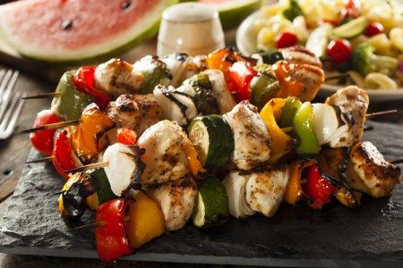 Chicken Veggie Kebobs