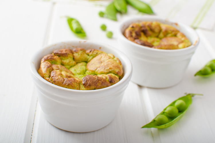 Clean Eating Pea and Ricotta Soufflé
