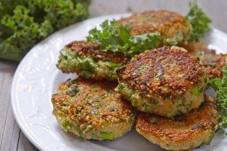 Crispy Quinoa & Kale Fritters