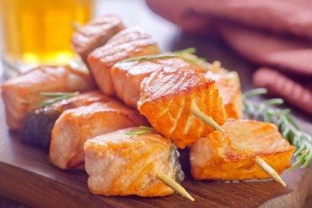 Grilled Salmon Kebobs