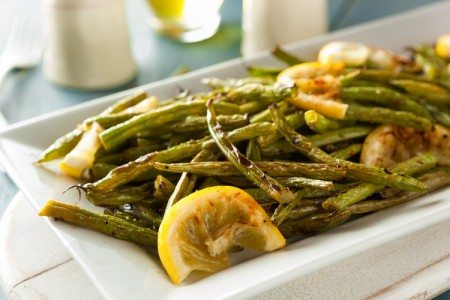 Roasted Green Beans with Lemon & Garlic