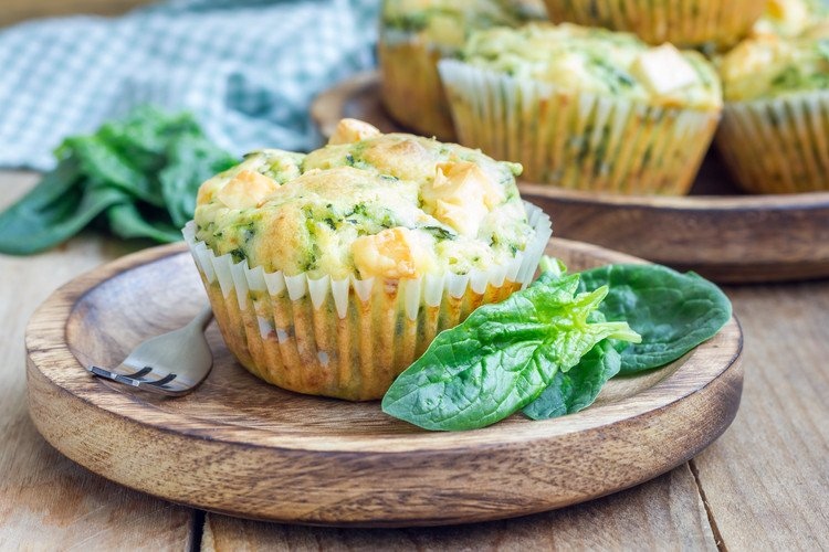 Spinach and Feta Savory Muffins
