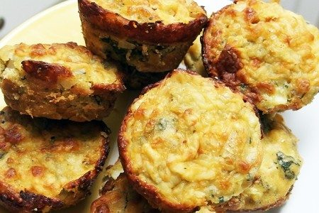 Sweet Corn and Kale Muffins