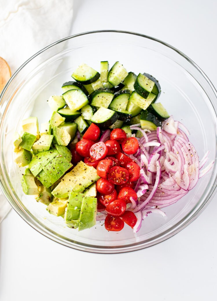 This super simple salad only requires 6 ingredients!