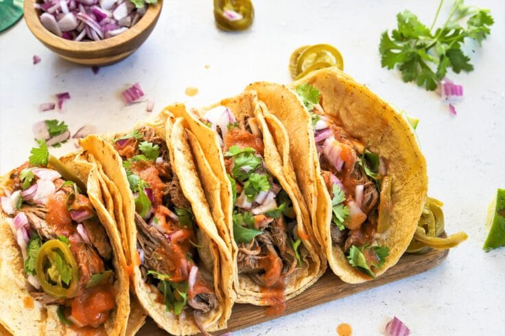 Our authentic everything beef tacos are a full of magnificent flavor!
