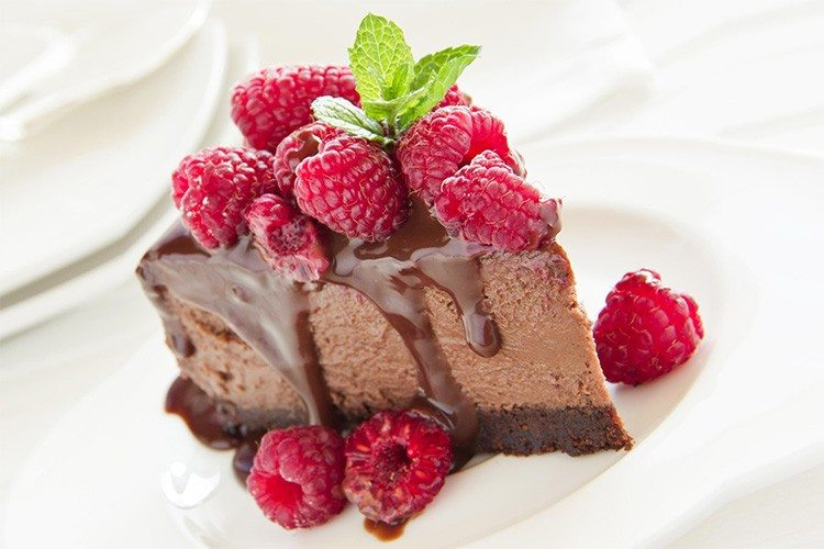 Triple Chocolate Berry Cheesecake