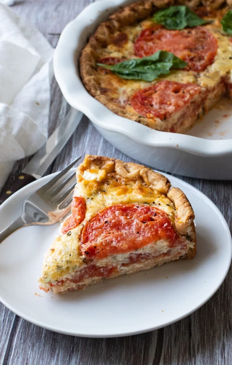 Enjoy a slice of tomato pie on a Summer afternoon.