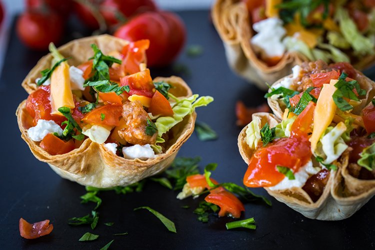 Mini Taco Salad Bowls 2
