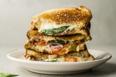 Tomato, Mozzarella, and Basil Panini