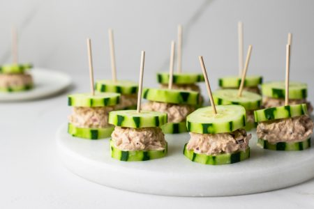 Tuna Cucumber Sandwiches
