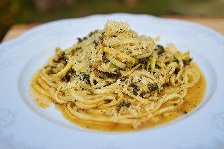 Cheesy Mushroom & Zucchini Pasta