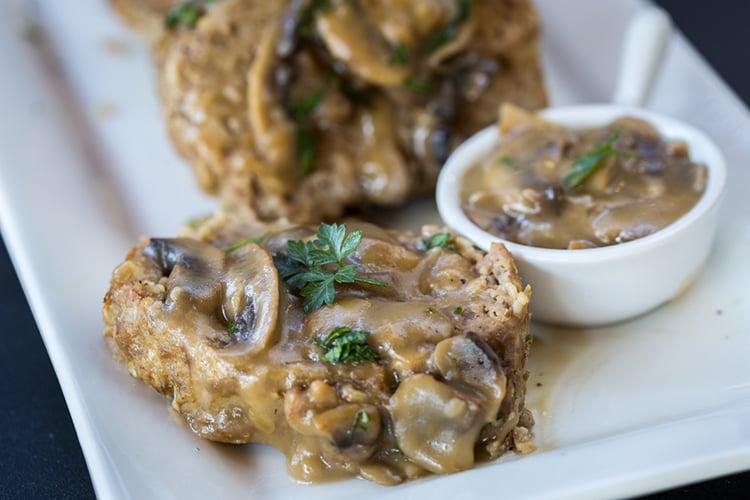 Easy Meatloaf with Mushroom Gravy