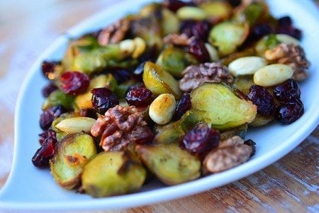 Glazed Cranberry Brussels Sprouts