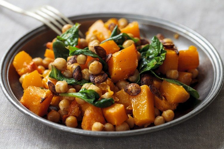Roast Butternut Squash and Chickpea Salad