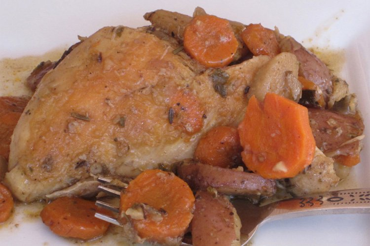 Keep things simple with this classic dish, Slow Cooker Chicken and Vegetables