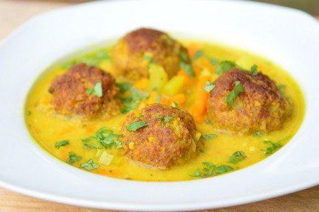 Creamy Southwestern Meatball Soup