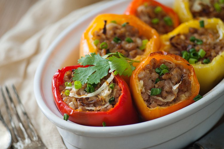 Asian Stuffed Bell Peppers-2