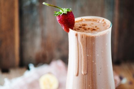 Banana Split Workout Protein Smoothie