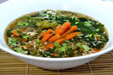 Bok Choy Egg Drop Soup
