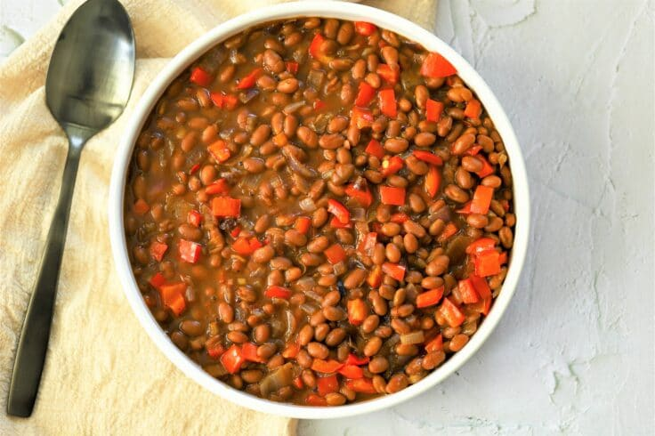 Our easy baked beans will be a hit at your next backyard barbecue!