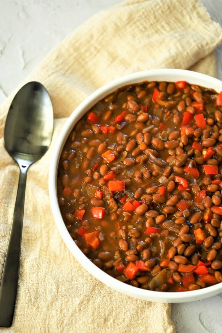 These beans are the perfect side for any burger, bbq, and more!