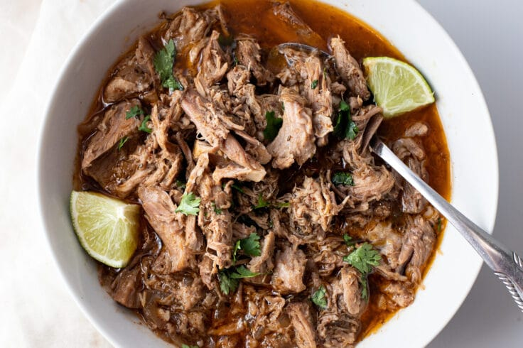 Our slow cooker carnitas are made using healthy but delicious ingredients!