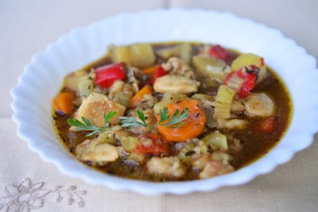 Slow Cooker Stout Chicken Stew