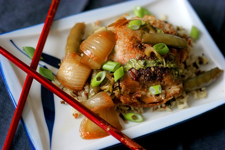 Slow Cooker Tamari-Glazed Chicken
