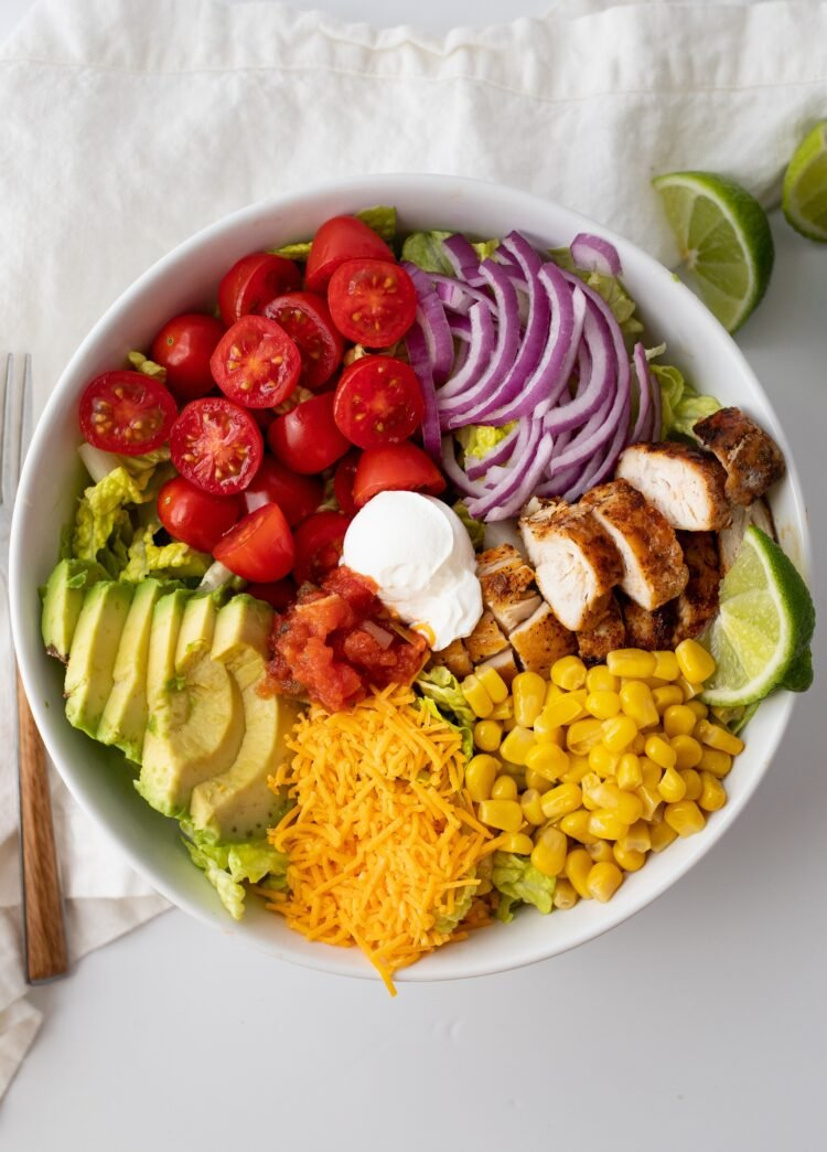Our Southwestern Chicken and Veggie Salad is just as tasty as it is colorful!