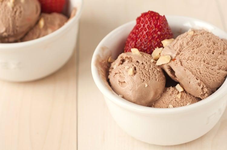 Chocolate Peanut Butter Banana Ice Cream