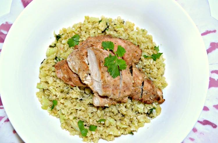 Riced Cauliflower & Chicken Recipe