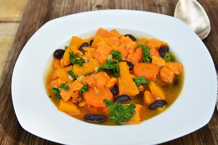 Slow Cooker Butternut Squash and Kale Stew