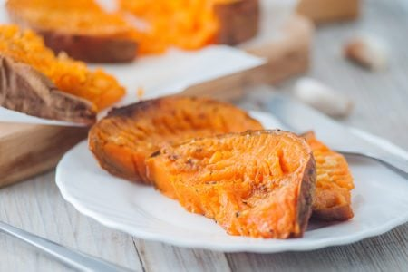 3-Ingredient Smashed Sweet Potatoes