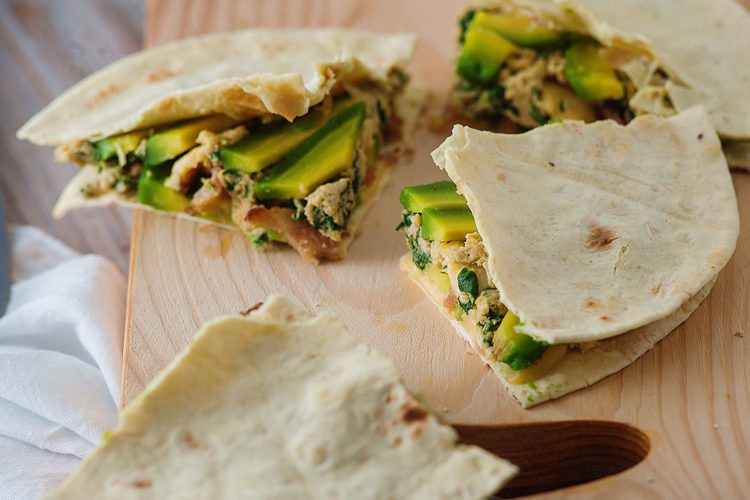 avocado and egg quesadilla