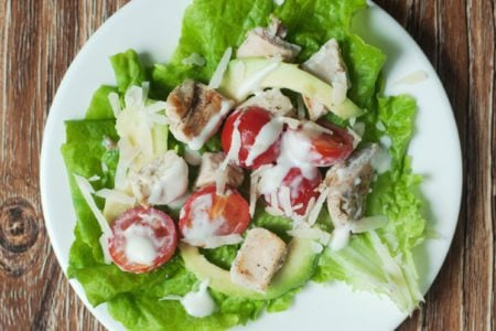 Chicken Caesar Lettuce Cups