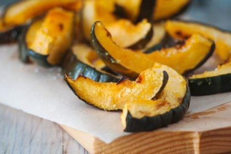 Coconut Roasted Acorn Squash